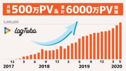 「LogTube」月間500万PV突破と累計6000万PV突破